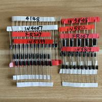도매 - 1N4148 1N4007 1N5819 1N5399 1N5408 1N5822 FR107 FR207,8 값 = 100pcs, 전자 부품 패키지, 다이오드 모듬 키트