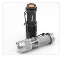 Sıcak Satış Linternas Dalış El Feneri Mini Led Torch 7 w 300lm Cree Q5 El Feneri Ayarlanabilir Odak Yakınlaştırma Flaş Işığı Lambası