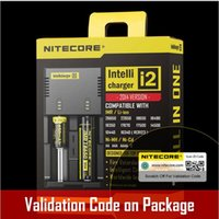 Nitecore I2 Nitecore I2 Universel Intellicharger E Cigarette Chargeur Universel batterie I2 Chargeur fit 18350 18650 14500 26650 batte