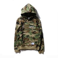 Tide brand camouflage hoodies for men new fashion embroidery...