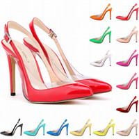 Womens Patent Leather High Heels Sexy Ankle Strap Sandals Pu...