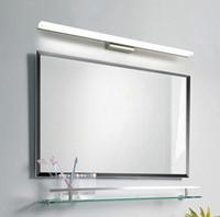 Miroir Lumière Applique murale à LED Miroir de maquillage avant d'éclairage à LED étanche antibuée acrylique LED mur Miroir lumière # 02