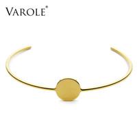 Volo linea elegante cerchio collana in acciaio inox per donne collane personalizzano i girocatori Colar Feminino