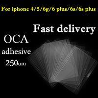 LCD OCA 스티커 필름 아이폰 4 4S 5 5S 5C 6 기가 6 플러스 광학 투명 접착제 접착제 스티커 미쓰비시 교체 부품
