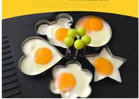 Edelstahl-Blume / Herz / Stern / Kreis-förmiges Spiegelei-Gerät-Ring-Kreis-Form-Omelett-Pfannkuchen-Küchen-Werkzeug 00741