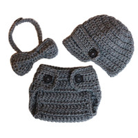 Newborn Gray Newsboy Costume, Handmade Knit Crochet Baby Boy ...