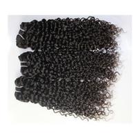 El pelo rizado malasio indio peruano brasileño del pelo brasileño teje 3 porciones del paquete pelo peruano barato sin procesar del 100% que teje 9A ¡Envío libre!