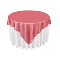 Haute Qualité Vente Chaude En Gros 10pcs Organza Table Overlay Tissu 72x72in Carré Table Décoration De Noce Banquet Supply 36 Couleurs