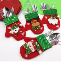 Beautiful Christmas Gift Bag Dinner Table Decoration Knife F...