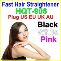 Fast hair straightener comb with LCD Straightening Hair Brus...