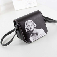 bf20da885c27 New Fashion Women Leather Bag Marilyn Monroe Printed Small Shoulder Bag  Student Teenage Gilrs Crossbody Bag Printing Mini Bag Night out Bag