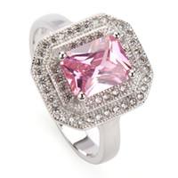 Kupfer Rhodium überzogene Förderung Ringe Rosa Cubic Zirkonia Favorit MN3242 SZ # 6 7 8 Noble großzügige Bestseller Die neue Auflistung Shinning