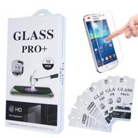 Pour le protecteur d'écran de verre trempé de Samsung S7 S6 S5 S4 S5 S4 de Samsung Galaxy J3 J5 J7 pour le film anti-déflagrant de l'iphone 6S Iphone 6 avec le paquet