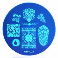 Маникюр шаблон печати Diy лак для ногтей окрашены синий фильм печати пластины печати инструмент Om-c женщин ногтей Бесплатная доставка