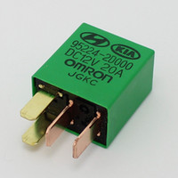 12V 20A Car violet relay for KIA OMRON 4 legs Green color