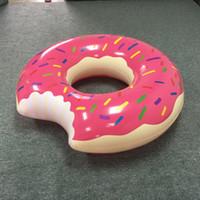 Sıcak Yaz Su Oyuncaklar 36 Inç Dev Donut Yüzme Şamandıra Şişme Yüzme Halka 2 Renkler Çocuklar Için En Iyi Hediyeler