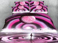 3D Printed Geometric Pink Ripple Bedding Sets Twin Full Quee...