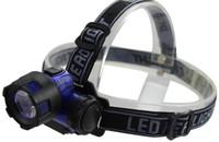 DHL Fedex impermeable al aire libre que acampa 3W ultra brillante LED faro ABS plástico ahorro de energía faro noche luz de pesca