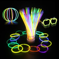 LED Light Sticks 7. 8 Inch Glow Sticks Bracelets Necklaces Ne...