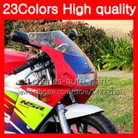 혼다 NSR250R MC28 용 100 % 새 오토바이 윈드 스크린 PGM4 NSR 250R NSR250 R 250 R 94 95 96 97 98 99 크롬 블랙 클리어 스모크 윈드 실드
