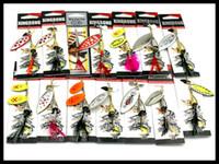 Nueva marca de metal cuchillas Spinner cebo 14 estilos Conjuntos mixtos Aleación de cobre Corrosión Spinnerbaits Pesca con mosca Lentejuelas señuelo