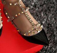 Высочайшее качество 15 цветов овчины плоские насосы моды заклепки вечеринки обувь женщины плоские каблуки натуральная кожа EU34-43 размер с коробкой