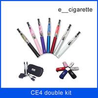 Ego t double cigarette électronique démarreur Ego CE4 Kit de démarrage batterie ecig e cig cigarette électronique Ce4 ego t vaporisateur en stock