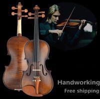 V304 Violino in abete rosso di alta qualità 4/4 strumenti musicali. Corde per violino con arco e violino