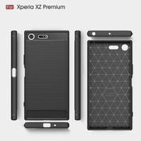 Для Sony Xperia XZ1 компактный мини XA1 ультра плюс E6 L1 роскошный мобильный телефон оболочки жесткий задняя крышка чехол защиты рукав углеродного волокна