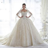 Ball Gown Wedding Dresses Vintage 2019 Latest Design Lace Ro...