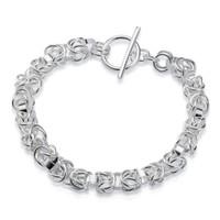 Fábrica directa al por mayor de plata de ley 925 TO leading Bracelet joyería de plata