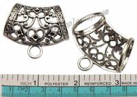 risultati dei monili diy sciarpa accessori accessori pendenti connettori grande argento signora cuore amore cristallo set grande foro in metallo inverno 42mm 30 pezzi