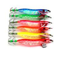 Marka Seawood Aydınlık Mastar lures 6colors Kalamar crankbait balıkçılık kanca 10cm 9.1g Noctilucent Plastik Karides karides sert Yemler