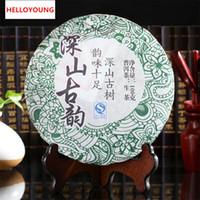 Promosyon 100g Yunnan Derin Dağ Antik Rhyme Puer Çay Ham Pu Er Çay Organik Pu'er Eski Ağacı Yeşil Puer Doğal Puerh Çay Kek