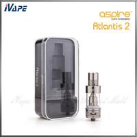 Original aspire atlantis 2 tanque 3.0 ml atomizador de fluxo de ar ajustável aspire atlantis v2 sub ohm bobina clearomizer com ótimo sistema de refrigeração