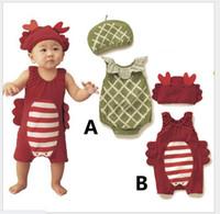 2016 Nieuwe Hot Baby Baby Insect Model Rompertjes Peuter Jongens Zomer Mouwloze Jumpsuits Met Hoed Babies Kleding Pasgeboren OneSies One-Pieces