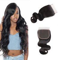 Body Wave 4X4 Free Middle Three Part Lace Closure 8A 100% Un...