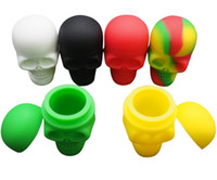 Stock in USA! 5pcs lot Skull NonStick Silicone Container Wax...