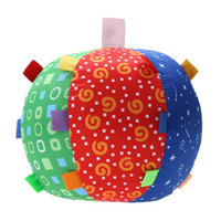 Ball Bell Children Multicolor Toys Baby Hand Grasp Ball Clot...