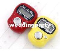 200 pcs Mini Main Hold Band Tally Counter LCD Numérique Écran Doigt Électronique Head Count Tasbeeh Tasbih