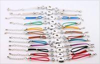 Новые 10 Дизайн имбирь Оснастки кожаный браслет Оснастки кнопки Нуса куски пара Кристалл браслеты Fit 18 мм Giinger Snap Оптовая смешанные много