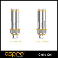 Originale Aspire Cleito Replacemet Dual Clapton Bobina 0.2ohm 0.4ohm 0.27ohm SS316L Atomizzatore di controllo della temperatura Per Cleito Serious TPD Imballaggio