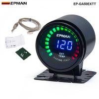 "Epman Racing 2 ""52mm 훈제 디지털 색상 아날로그 LED 배기 가스 온도 센서 EP-GA50EXTT가있는 배기 가스 온도 엑스널 게이지"