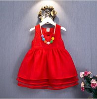 2016 Summer New Baby Girls Lace Tutu Dresses Children Sleeve...