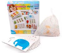 Ahşap sayım dijital kart. 3 yaşındaki çocuk oyuncakları, dijital eşleştirme bulmacaları. Dijitalin Erken Öğrenme Aydınlanma anlayışı
