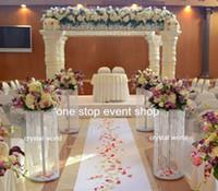 27 inç boyunda) çiçek aranjmanları çiçek vazo el yapımı tasarımlar / düğün için çiçek vazolar