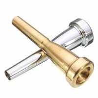 Toptan-Yeni !!! Yüksek Kalite 2 Renkler Gümüş / Altın Trompet Ağızlık Bach Için 3C Boyutu