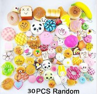Wholesale 30pcs bag Squishy Cat Burger Slow Rising Soft Anim...