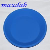 """Hot variopinto vassoio circolare vassoio in silicone vaso profondo piatto rotondo PAN 8 """"X8"""" non bastone contenitori di silicone Concentrato olio BHO FREE DHL"""