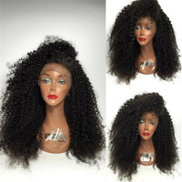 250% Density Curly Lace Front Human Hair Wigs For Black Wome...
